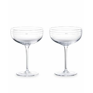 "kate spade ""Darling Point"" Champagne Saucer Pair"